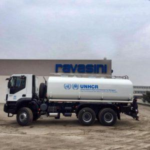 Costruzione cisterne per trasporto acqua per camion