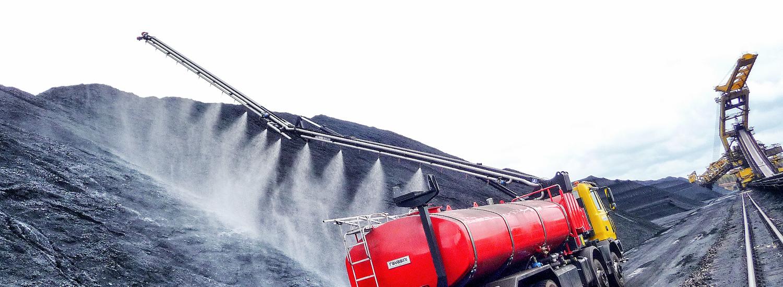 Cisterna trasporto e distribuzione acqua industriale per abbattimento polveri
