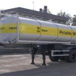 Cisterna Saipem per trasporto acqua potabile