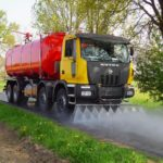 cisterna per trasporto e distribuzione acqua industriale per innaffiamento e lavaggio strade e gallerie